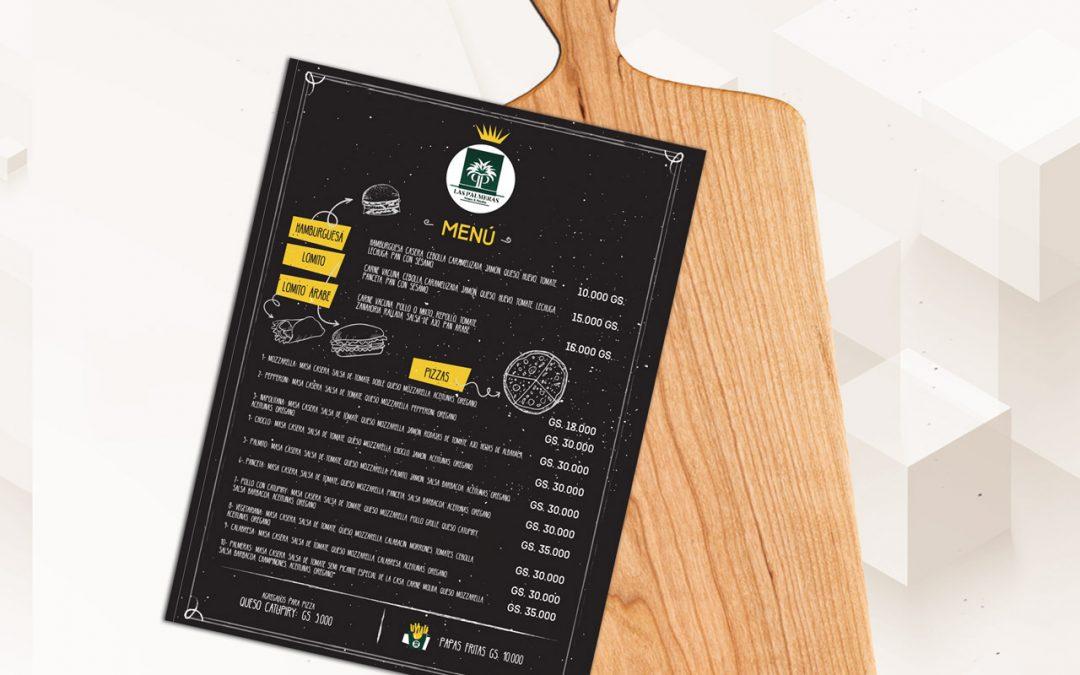 Diseño gráfico: Menú para restaurant